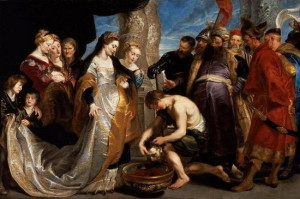 Tomyris, by Peter Paul Rubens. 19th Century.