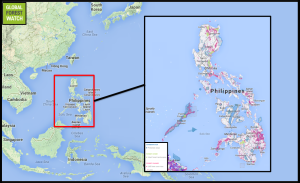 The Philippines in geographic context.