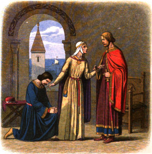Queen Eleanor convinces her son Richard to forgive his brother John.
