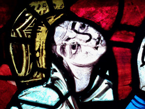 Eleanor, as depicted in a window in Poitiers Cathedral.