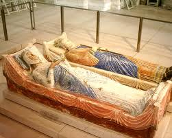 Eleanor and Henry's tombs at Fontevraud.