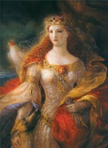 A fanciful portrait of Eleanor of Aquitaine by Kinuko Y. Craft