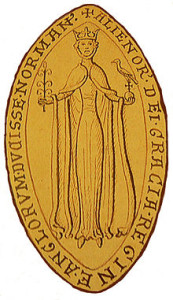 Eleanor's royal seal, proclaiming her Queen of England and Duchess of Aquitaine.